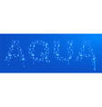Aqua water drops vector image vector image