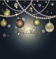 Beautiful card for christmas with balls and pearl vector image vector image