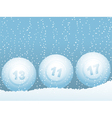 bingo or lottery ball vector image vector image