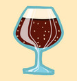 black beer glass icon hand drawn style vector image vector image
