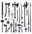 black monochrome solid design various medieval vector image vector image