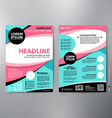 Brochure design a4 template vector image