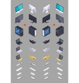 Collection of the isometric electronic hardware vector image vector image