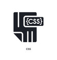 css isolated icon simple element from programming vector image vector image