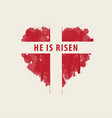 easter banner with cross in abstract red heart vector image vector image