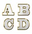 English alphabet gold vector image vector image