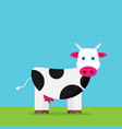 flat funny cow vector image