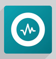 flat pulse icon vector image
