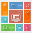 Flat square icons for web store vector image vector image