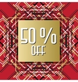 Golden red sale banner template in art deco vector image vector image
