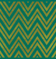 green zigzag seamless pattern with grunge effect vector image