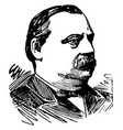 grover cleveland vintage vector image vector image