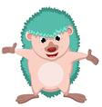 happy hedgehog cartoon vector image vector image