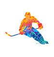 hockey player vector image vector image