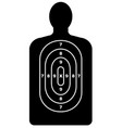 human shape target vector image vector image