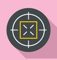 hunting gun aim icon flat style vector image vector image