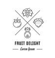 line banner fruit delight vector image