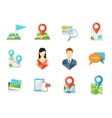 Location flat icons vector image