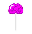 lollipop brain human brains sweet unusual vector image vector image