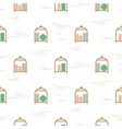 luggage cart seamless pattern luggage vector image