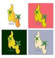 map of zanzibar with palms vector image vector image