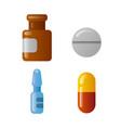 medicaments icon set vector image