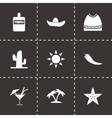 mexico icon set vector image vector image