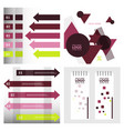 Modern strips infographics x options banner for