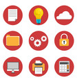 office flat icons design vector image vector image