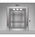 Open Chrome Metal Office Building Elevator vector image