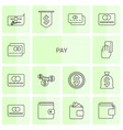 pay icons vector image vector image