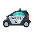 police electric mini car emergency patrol urban vector image