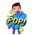 pop art pop bubble man background image vector image vector image