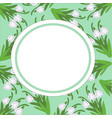 postcard pattern of snowdrops on a light green vector image vector image