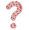 query composition of triangle flag icons vector image vector image