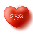 red heart with text someone loves you love vector image vector image