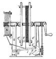 rewinding cord machine vintage vector image vector image