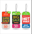 sale tags colorful modern collection 2 vector image