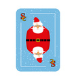 Santa Claus playing card New concept of playing vector image vector image