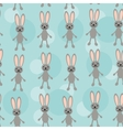 Seamless pattern with funny cute rabbit animal on vector image