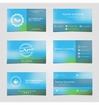 Set of business cards for tea vector image vector image
