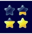 Set of Cartoon glossy Stars vector image vector image