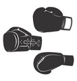 set of the boxing gloves icons isolated on white vector image vector image