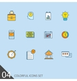 Set of thin line icons for your design vector image vector image