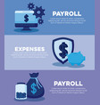 shield with set icons economy finance vector image vector image