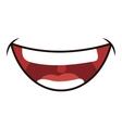 Smile cartoon icon Mouth design graphic vector image vector image