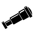 spyglass icon simple style vector image vector image