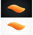 Steak of raw salmon fish vector image