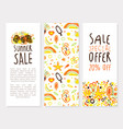 summer sale special offer vertical banner template vector image vector image