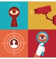 surveillance vector image